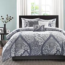 Madison Park Vienna Gray Comforter Set - King