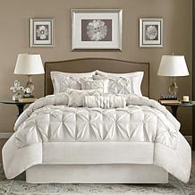 Madison Park White Laurel Comforter Set