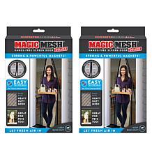 Magic Mesh™ Deluxe Hands-Free Magnetic Screen Door 2-pack