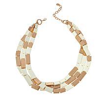 "MarlaWynne 28"" Multi-Tile 3-Row Necklace"