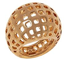 MarlaWynne Checkered Openwork Dome Ring