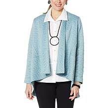 MarlaWynne Quilted Jacquard Knit Swing Jacket