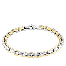 Men's 2-tone Stainless Steel Box Link Bracelet