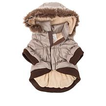 Metallic Pet Parka Coat