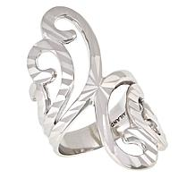 Michael Anthony Jewelry® Sterling Silver Diamond-Cut Swirl Ring