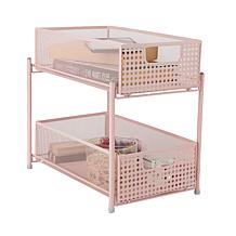 Mind Reader 2-Tier Cabinet Basket Mesh Storage Baskets