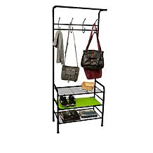 Mind Reader Metal Coat & Shoe Rack Organizer
