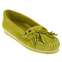 Minnetonka Kilty Suede Cushioned Moccasin