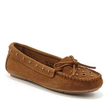 Minnetonka Lane Suede Studded Moccasin