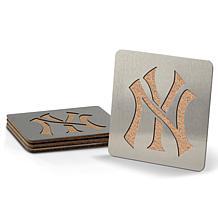 MLB Boasters 4-piece Coaster Set - New York Yankees