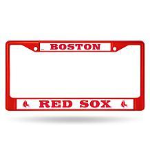 MLB Red Chrome License Plate Frame - Red Sox