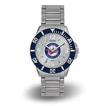 "MLB Sparo ""Key"" Team Logo Stainless Steel Bracelet Watch - Twins"