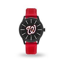 """MLB Sparo Team Logo """"Cheer"""" Strap Watch - Nationals"""