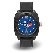"MLB Sparo Team Logo ""Prompt"" Black Strap Sports Watch - Blue Jays"