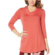 ModernSoul® Luxe French Terry Cowl-Neck Tunic with Pockets