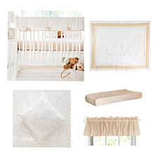 My Baby Sam Heart of Gold 9-piece Crib Set