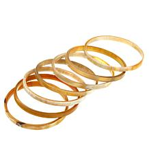 Natural Beauties 7-piece Buffalo Horn Bangle Set