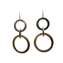 Natural Beauties Watusi Horn 3-Circle Drop Earrings