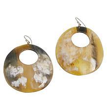 Natural Beauties Watusi Horn Domed Cut-Out Drop Earrings
