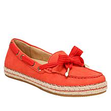 Naturalizer Annabeth Leather Moc-Toe Espadrille Flat