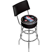 NBA Padded Swivel Bar Stool with Back