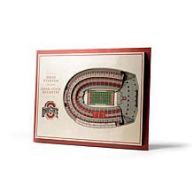NCAA Ohio State Buckeyes StadiumViews 3-D Wall Art - Ohio Stadium
