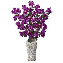 "Nearly Natural 39"" Bougainvillea Arrangement in a Decorative Vase"