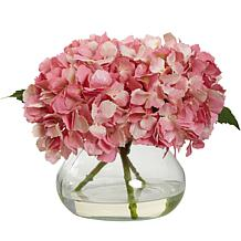 Nearly Natural Blooming Silk Hydrangea Arrangement