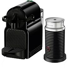 Nespresso Inissia Black Single-Serve Espresso Machine w/Milk Frother