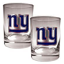 New York Giants 2pc Rocks Glass Set