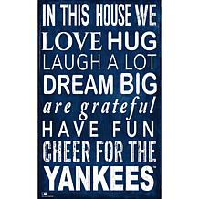 New York Yankees In This House Sign