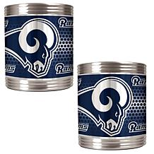 NFL 2-piece Stainless Steel Can Holder Set - Rams