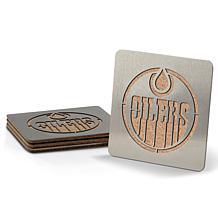 NHL Boasters 4-piece Coaster Set - Edmonton Oilers
