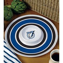 NHL Melamine Chip and Dip Serving Tray - Lightning