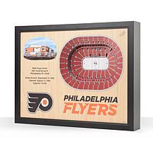 NHL Philadelphia Flyers 25-Layer 3-D Wall Art - Wells Fargo Center