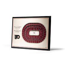 NHL Philadelphia Flyers StadiumViews 3-D Wall Art - Wells Fargo Cen...