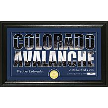 NHL Silhouette Panoramic Bronze Coin Photo Mint - Colorado Avalanche