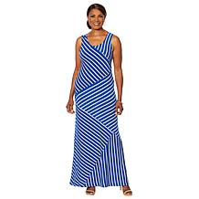 e1e99523dfd Nina Leonard Striped Maxi Tank Dress