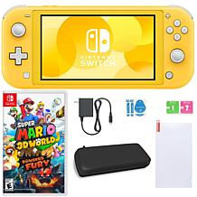 Nintendo Switch Lite with Super Mario 3D World + Bowser's Fury