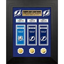 Officially Licensed Lightning 3X Stanley Cup Champs Banner and Coin