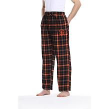 Officially Licensed Men's Plaid Flannel Pant by Concepts Sport-Giants