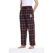 Officially Licensed Men's Plaid Flannel Pant by Concepts Sport-Tigers
