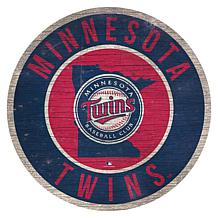 """Officially Licensed MLB 12"""" Circle Sign with State & Logo"""