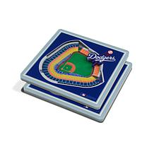 Officially Licensed MLB 3D StadiumViews Coasters - Los Angeles Dodgers