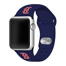 Officially Licensed MLB 42mm/40mm Silicone Apple Watchband - Red Sox