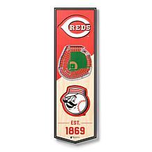"Officially Licensed MLB 6"" x 19"" 3D Stadium Banner - Cincinnati Reds"