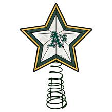 Officially Licensed MLB Mosaic Tree Topper - Athletics
