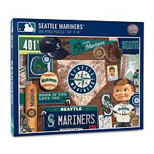 Officially Licensed MLB Seattle Mariners Retro Series 500-Piece Puzzle