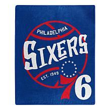 Officially Licensed NBA Black Top Raschel Throw Blanket - 76ers