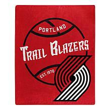 Officially Licensed NBA Black Top Raschel Throw - Trailblazers